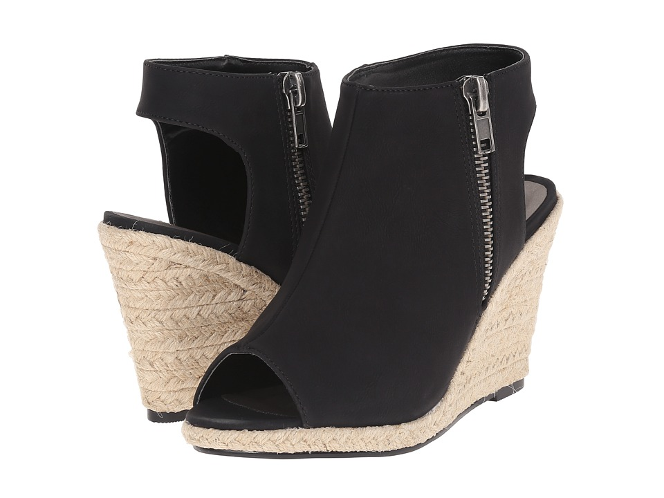 Michael Antonio - Genna (Black) Women's Wedge Shoes