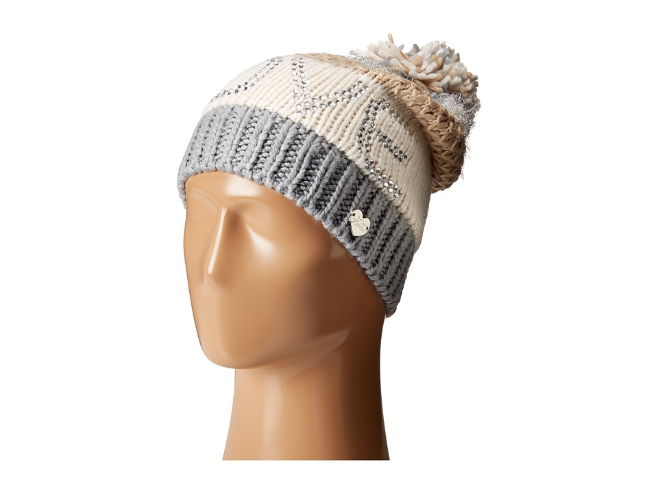 Betsey Johnson - Love Beanie Hat (Ivory) Beanies