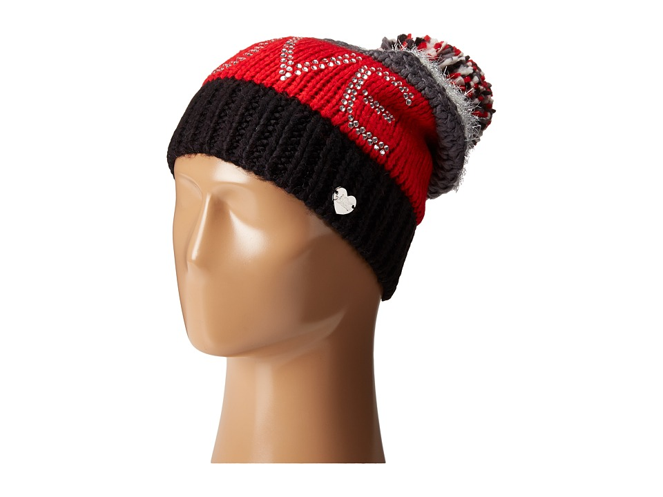Betsey Johnson - Love Beanie Hat (Red) Beanies