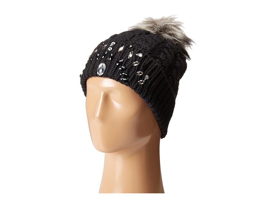 Betsey Johnson - Family Jewels Beanie Hat (Black) Beanies