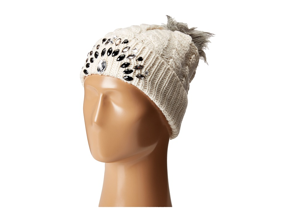 Betsey Johnson - Family Jewels Beanie Hat (Ivory) Beanies