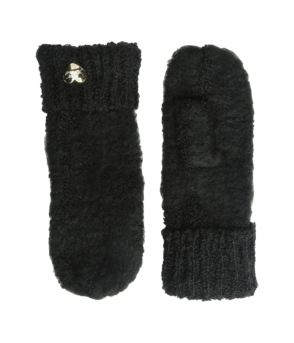 Betsey Johnson - Fuzzy Logic Mitten (Black) Extreme Cold Weather Gloves