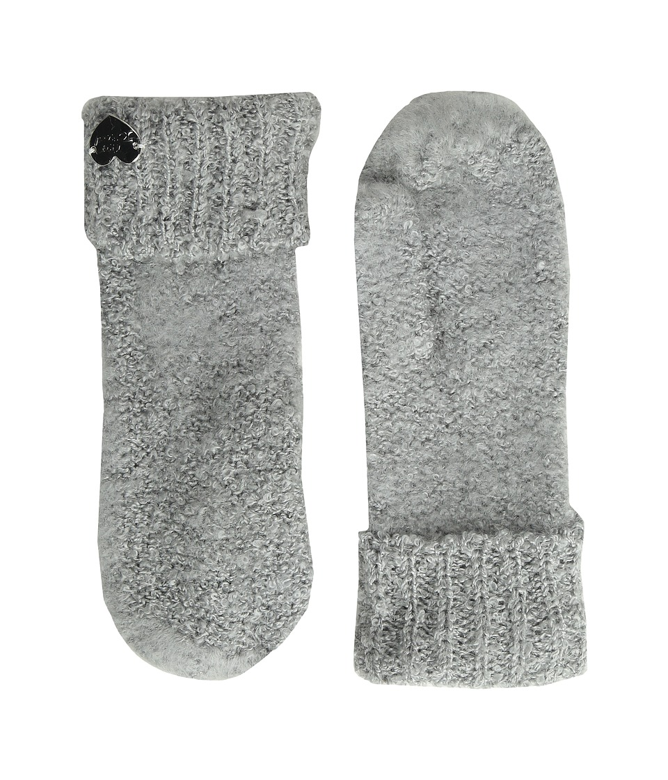 Betsey Johnson - Fuzzy Logic Mitten (Grey) Extreme Cold Weather Gloves