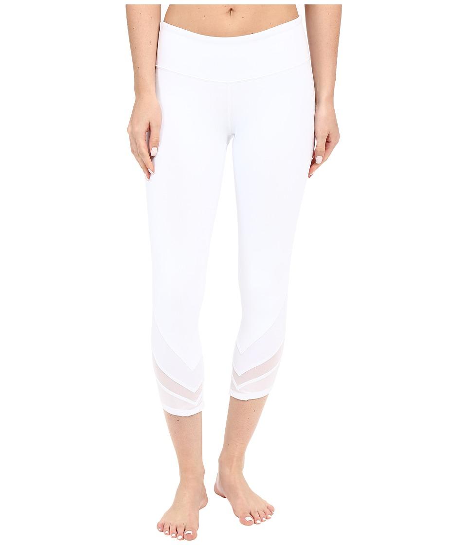 ALO - Edge Capris (White/White Glossy/White) Women's Capri