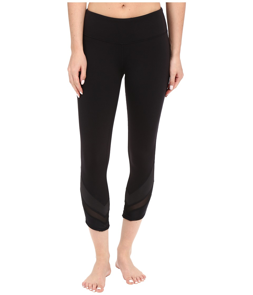 ALO - Edge Capris (Black/Black Glossy/Black) Women's Capri