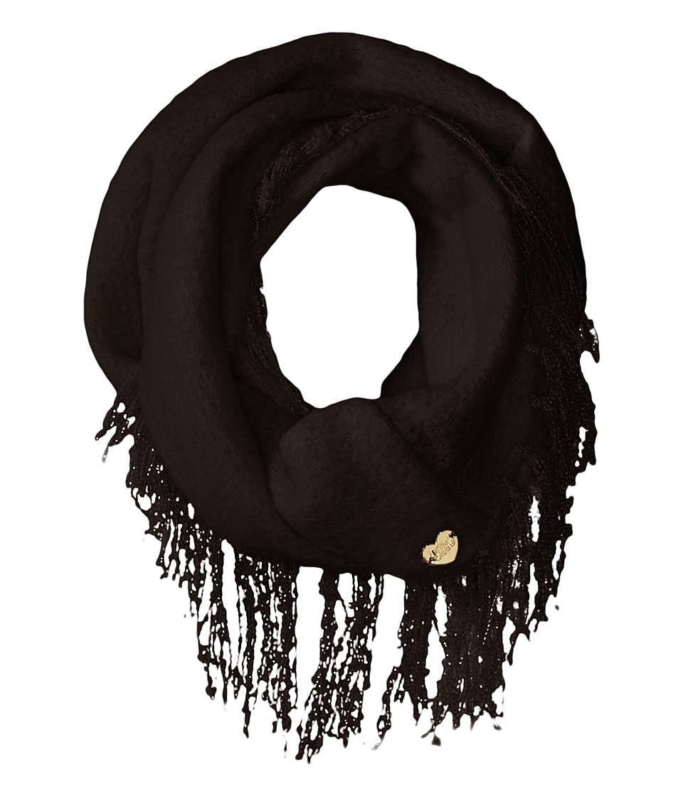 Betsey Johnson - Fuzzy Logic Infinity (Black) Scarves