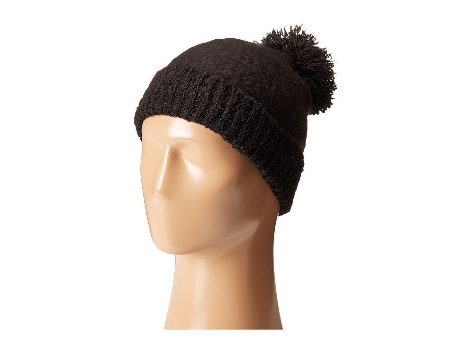 Betsey Johnson - Fuzzy Logic Cuff Hat (Black) Beanies