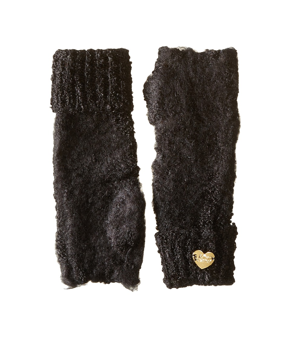 Betsey Johnson - Fuzzy Logic Arm Warmer (Black) Dress Gloves