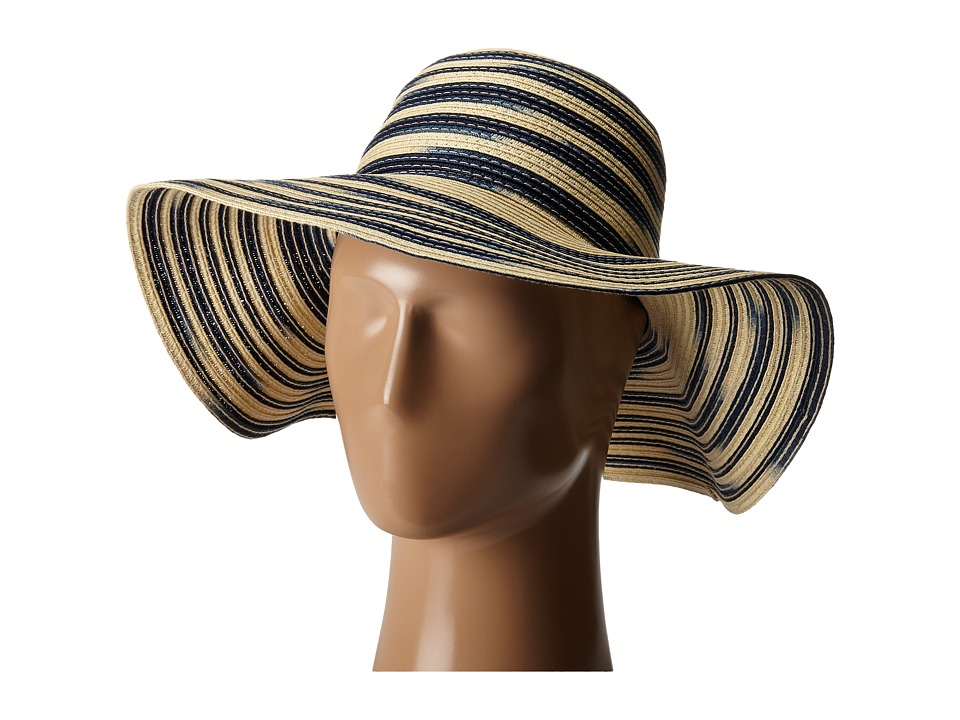 Michael Stars - Swirl Striped Floppy Hat (Nocturnal) Caps