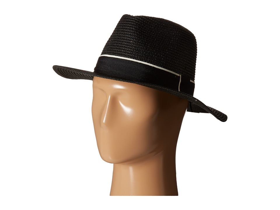 Michael Stars - Corfu Wide Brim Hat (Black) Fedora Hats