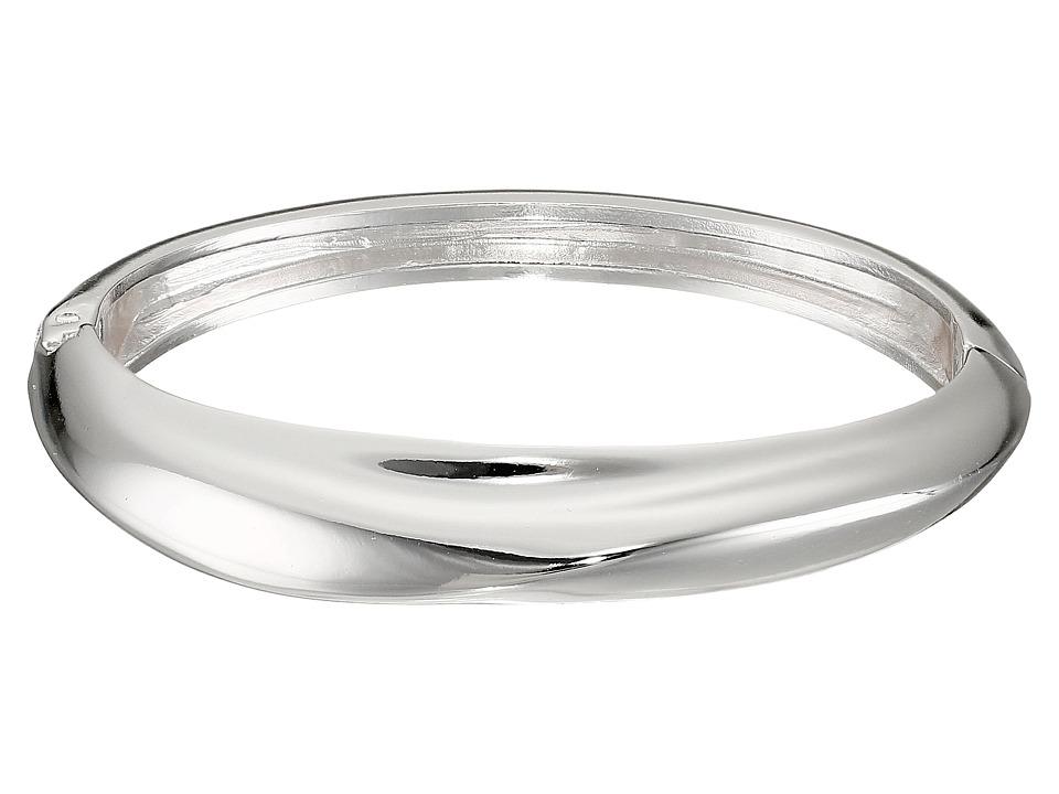 Robert Lee Morris - Shiny Silver Narrow Hinge Bangle Bracelet (Shiny Silver) Bracelet