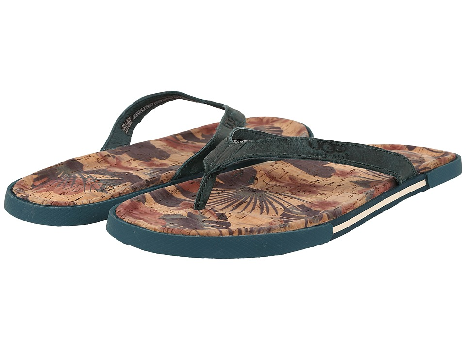 UGG - Bennison II Hawaiian Cork (Surf Blue) Men's Sandals