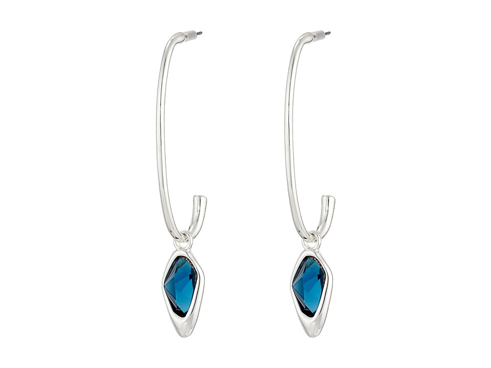 Robert Lee Morris - Blue Stone U Earrings (Blue) Earring
