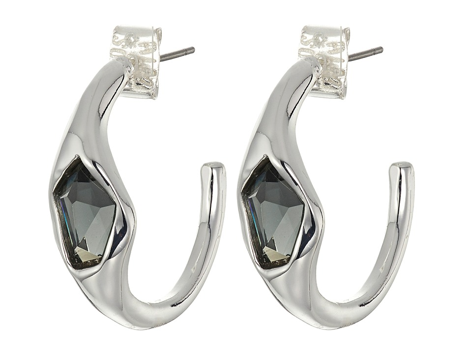 Robert Lee Morris - Black Diamond Hoop Earrings (Black Diamond) Earring