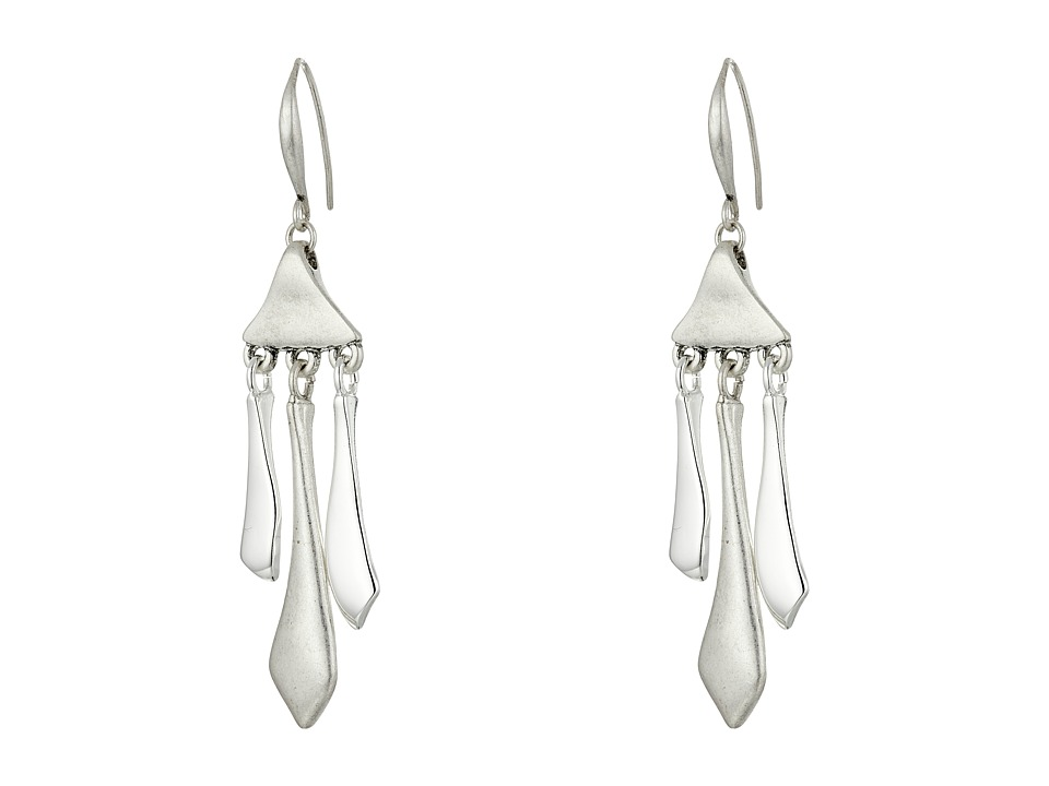 Robert Lee Morris - Silver Stick Chandelier Earrings (Silver) Earring