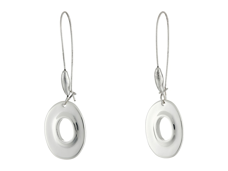 Robert Lee Morris - Oval Shepherd Hook Earrings (Shiny Silver) Earring