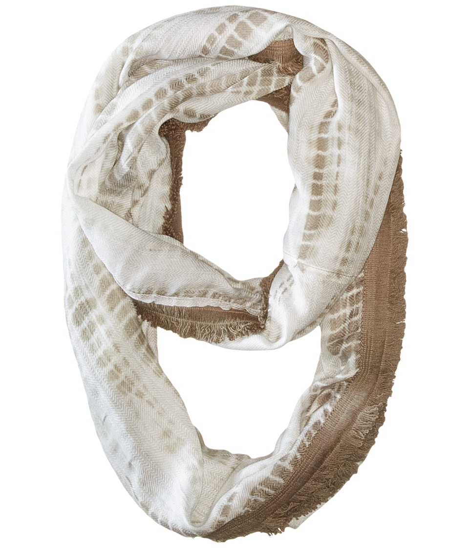 Michael Stars - Feather Fringe Eternity Scarf (Oyster) Scarves