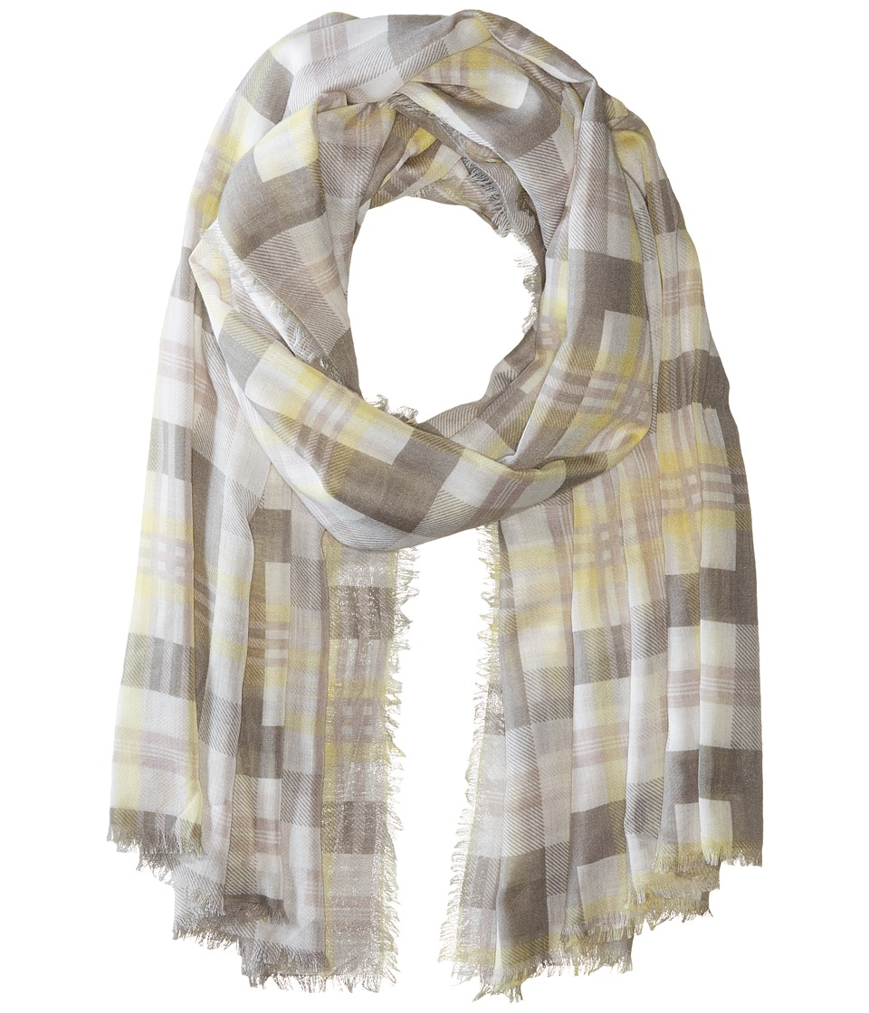 Michael Stars - Morning Side Plaid Wrap (Oyster) Scarves