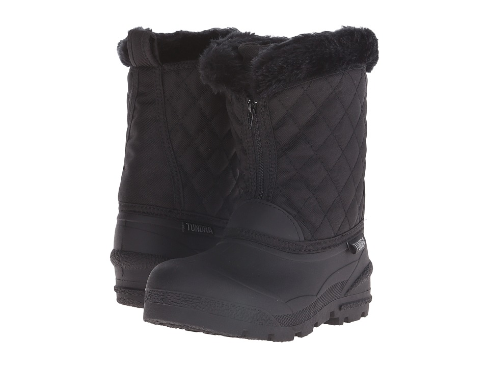 Tundra Boots Kids - Snowdrift (Little Kid/Big Kid) (Black 1) Girls Shoes