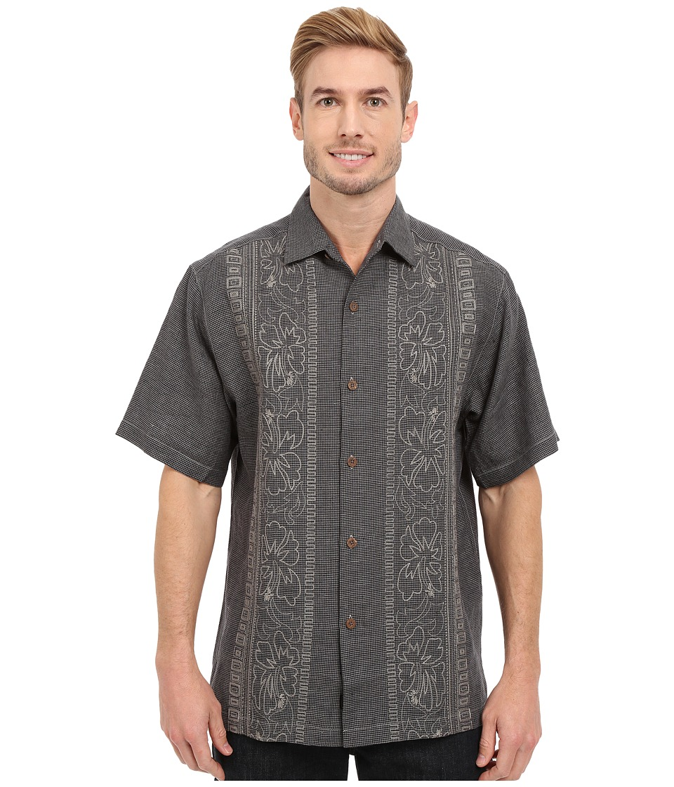 Tommy Bahama - Hana Rue Linen Camp Shirt (Black) Men's Clothing