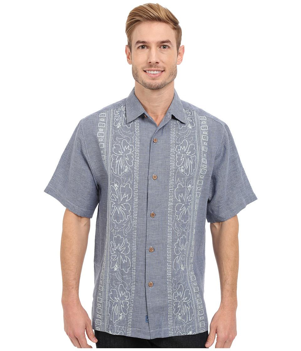 Tommy Bahama - Hana Rue Linen Camp Shirt (Turbulence) Men's Clothing