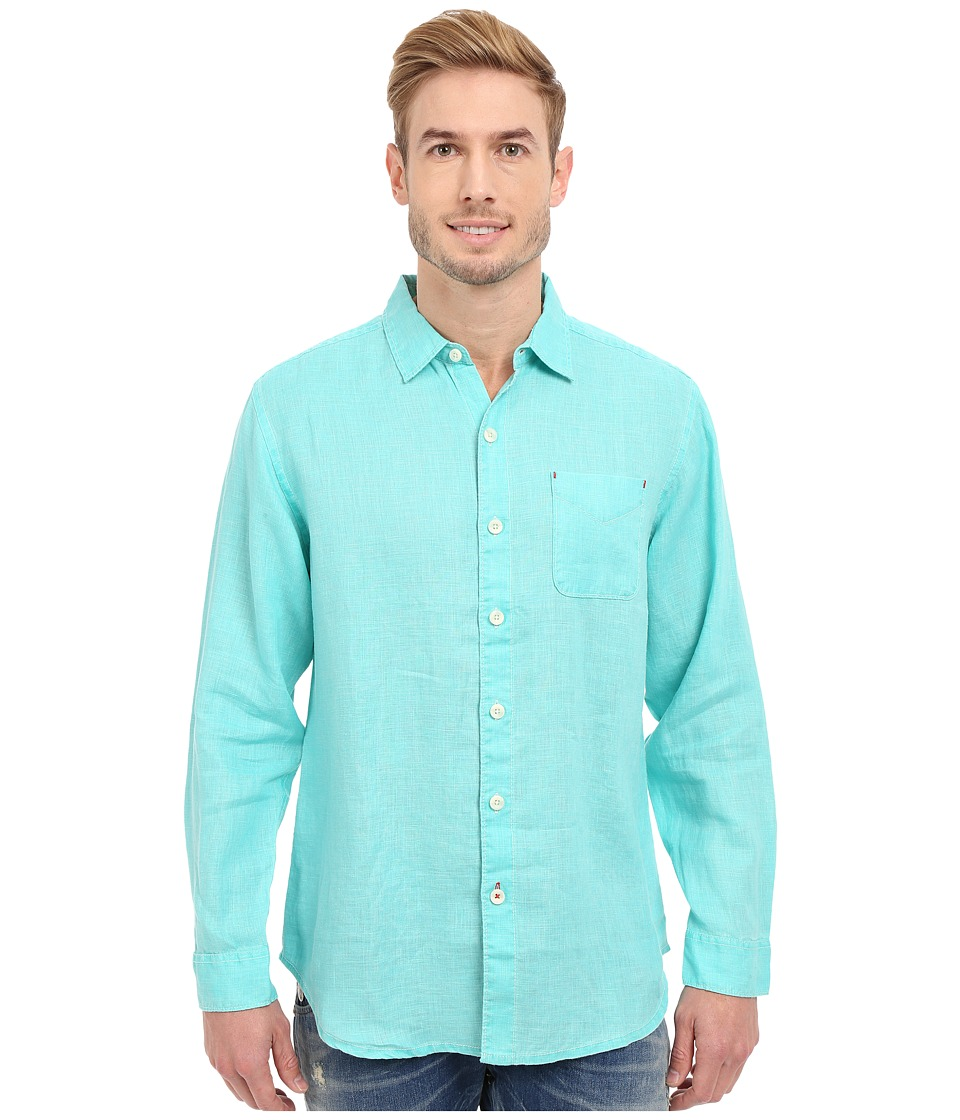 Tommy Bahama - Sea Glass Breezer Long Sleeve Shirt (Meridian) Men's Long Sleeve Button Up