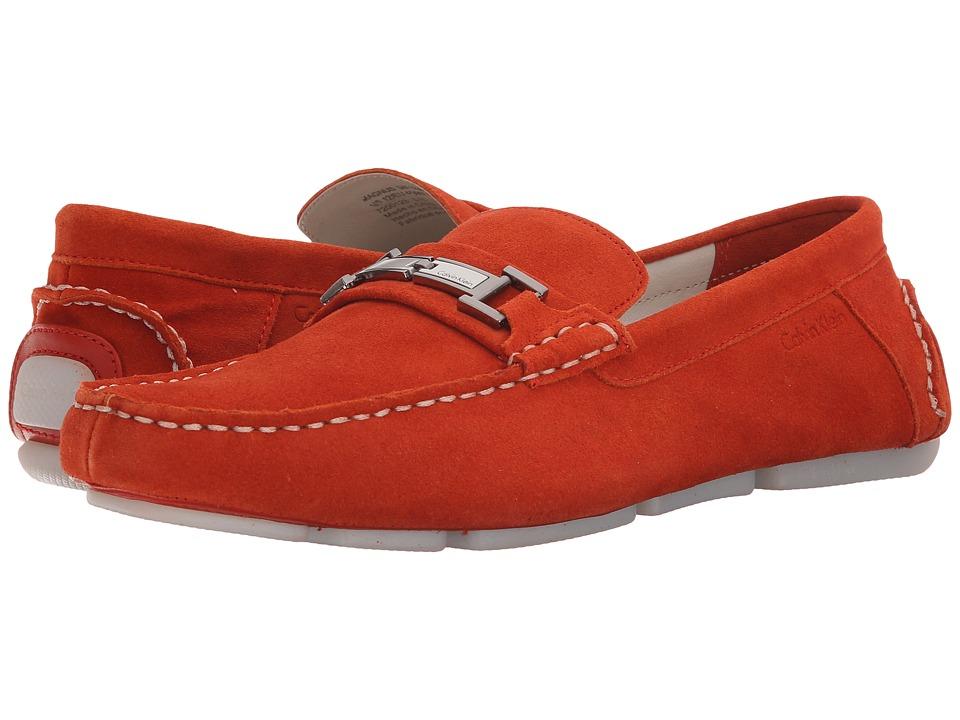 Calvin Klein - Magnus (Red Orange Calf Suede) Men