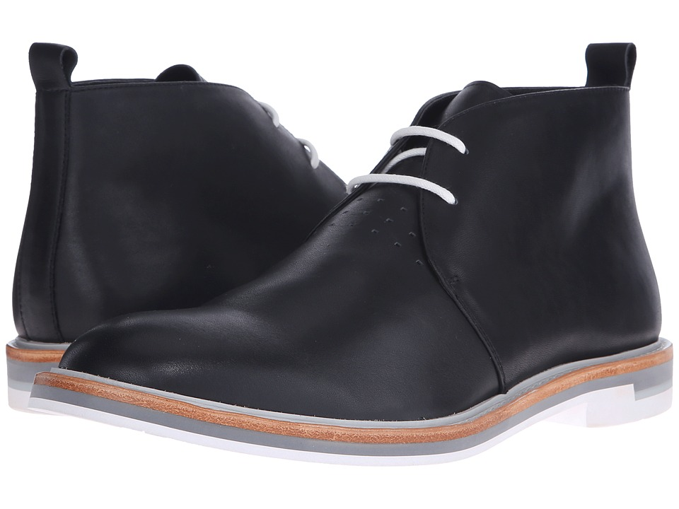 Calvin Klein - Jonas (Black Leather) Men's Lace-up Boots