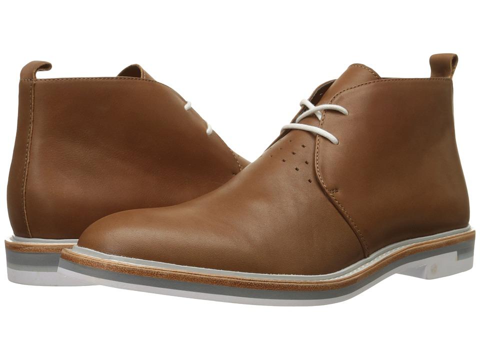 Calvin Klein - Jonas (Bark Leather) Men's Lace-up Boots