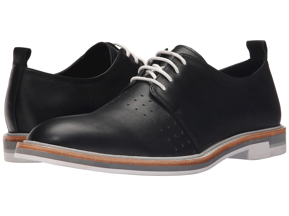 Calvin Klein - Jaylon (Black Leather) Men's Lace up casual Shoes