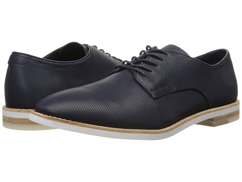 Calvin Klein - Agusto (Dark Navy Diamond Perf) Men's Lace up casual Shoes