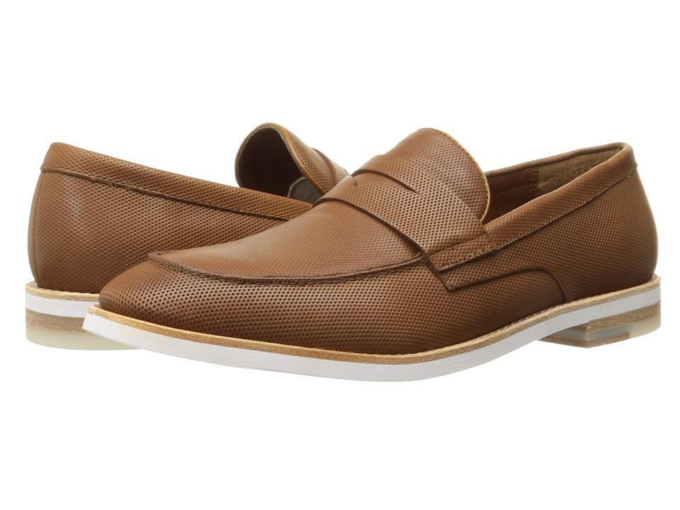 Calvin Klein - Angus (Bark Diamond Perf) Men's Slip on Shoes