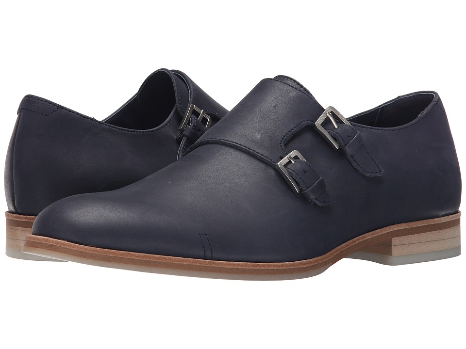 Calvin Klein - Faber (Dark Navy Washed Leather) Men