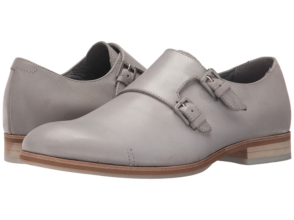 Calvin Klein - Faber (Grey Washed Leather) Men's Slip on Shoes
