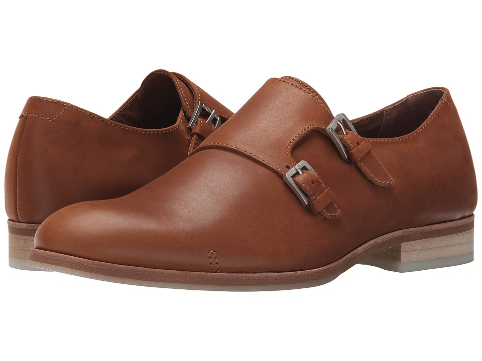 Calvin Klein - Faber (Tan Washed Leather) Men's Slip on Shoes