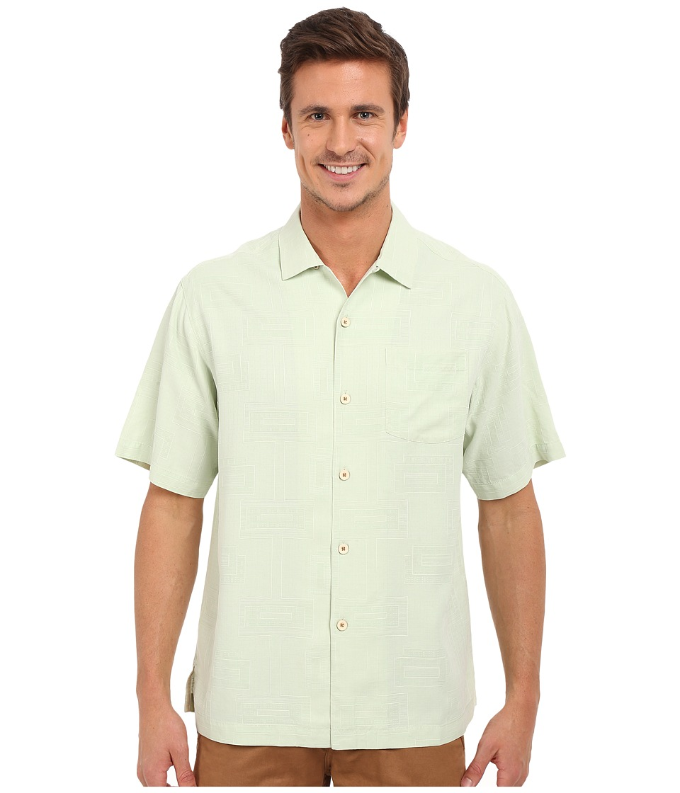 Tommy Bahama - Surfwinds Geo Camp Shirt (Herbal) Men's Short Sleeve Button Up