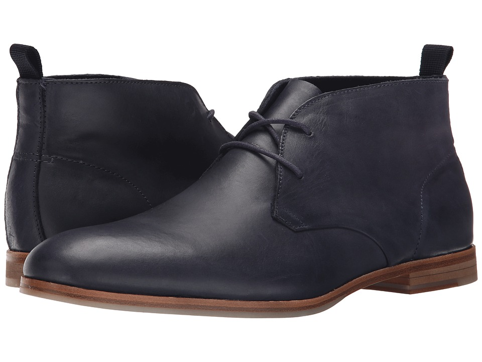 Calvin Klein Farnel (Dark Navy Washed Leather) Men