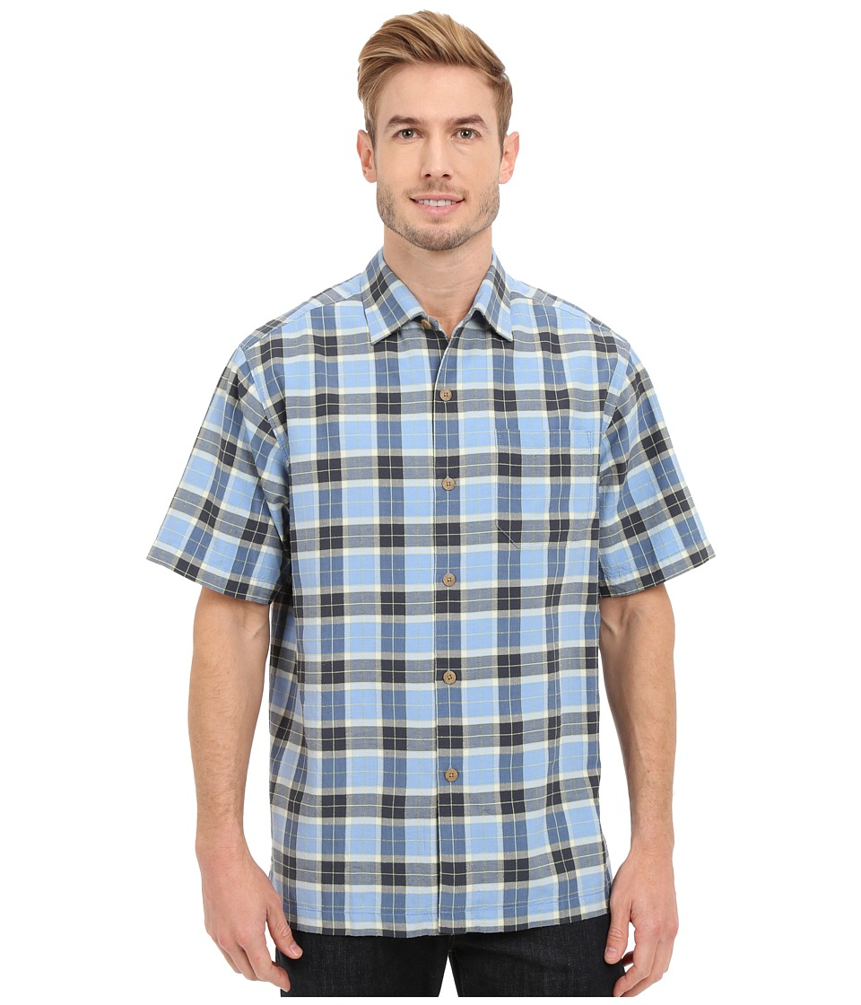 Tommy Bahama - Pierre Plaid Camp Shirt (Winter Sky) Men's Clothing