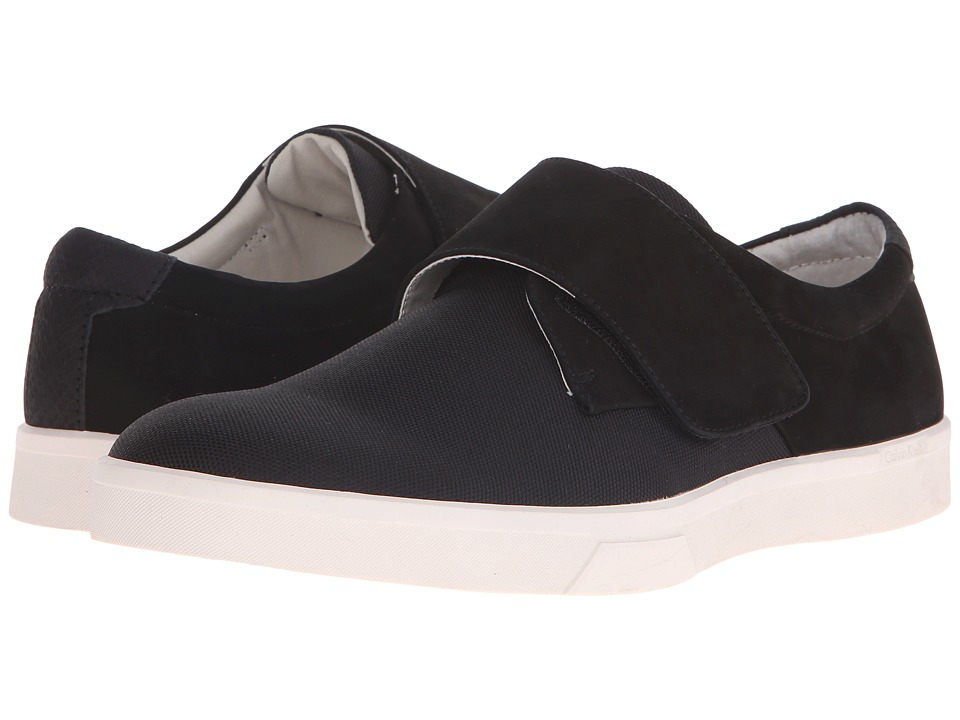 Calvin Klein - Iman (Black Nubuck/Nylon) Men's Hook and Loop Shoes