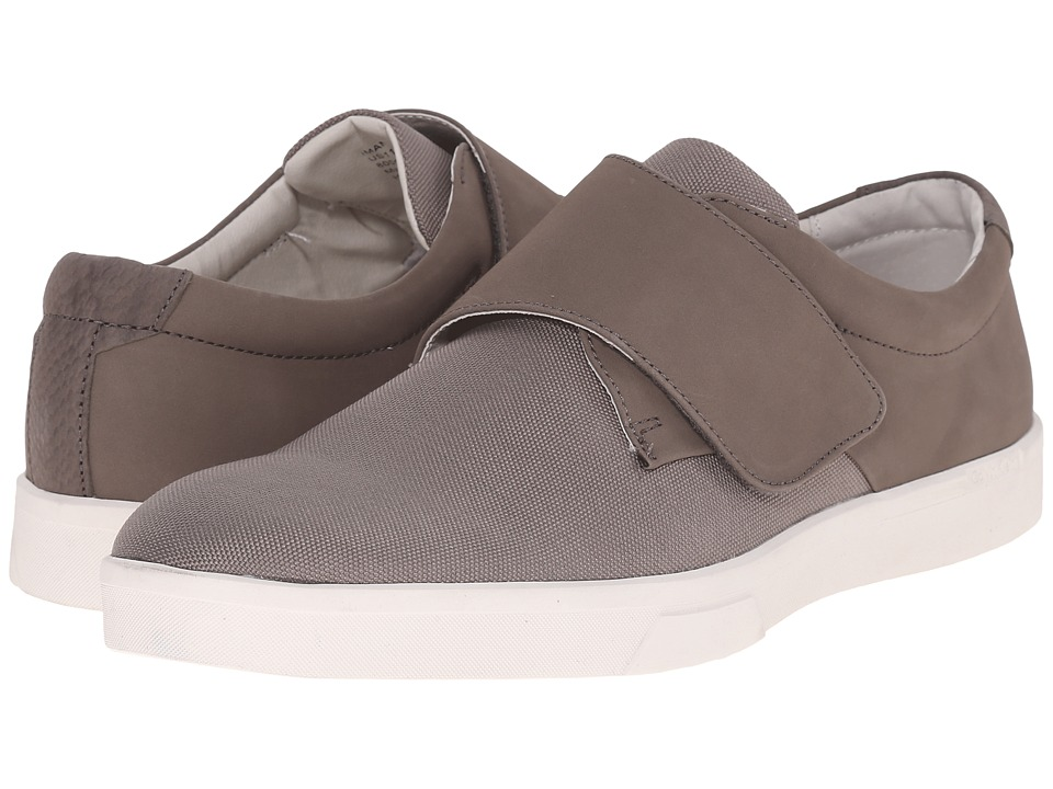 Calvin Klein - Iman (Toffee Nubuck/Nylon) Men's Hook and Loop Shoes