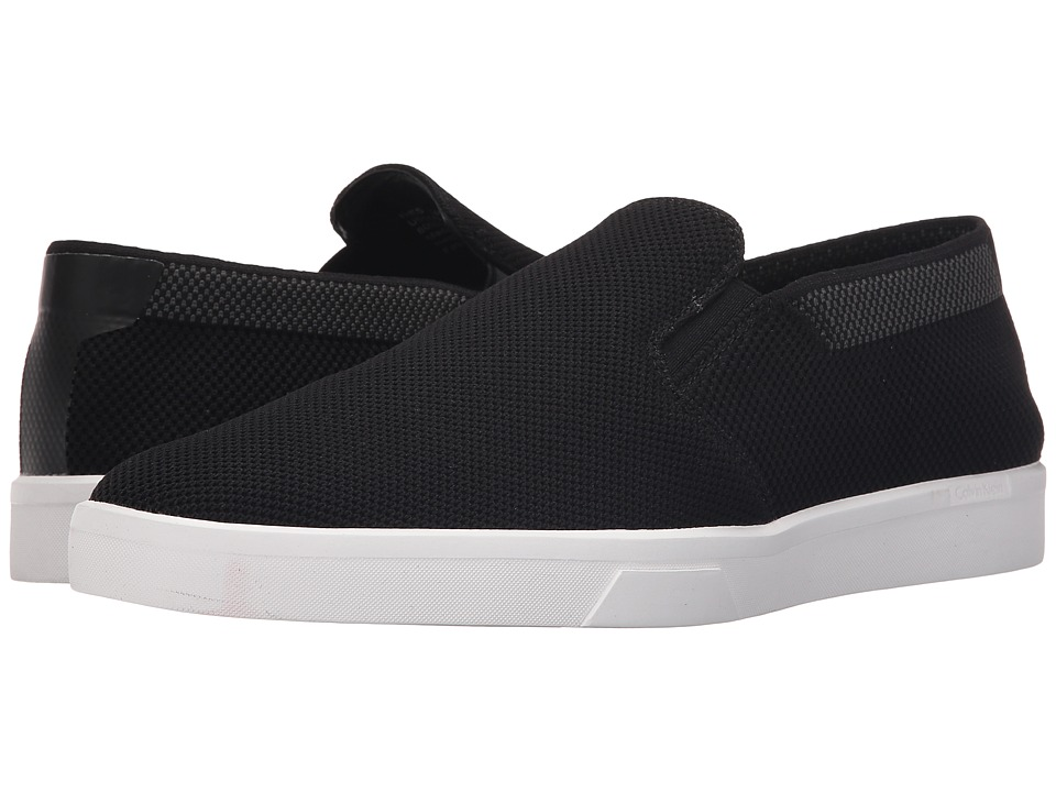 Calvin Klein - Ives (Black Knit Weave) Men's Slip on Shoes