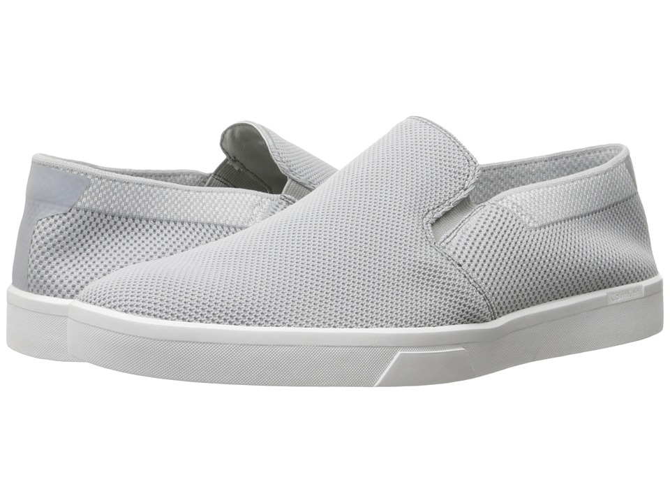 Calvin Klein - Ives (Light Grey Knit Weave) Men's Slip on Shoes