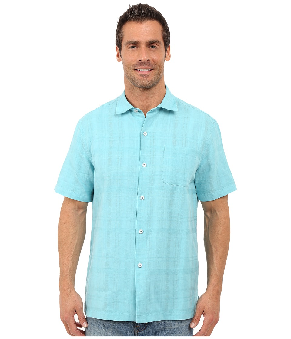 Tommy Bahama - Squarely There Camp Shirt (Baja Breeze) Men's Clothing