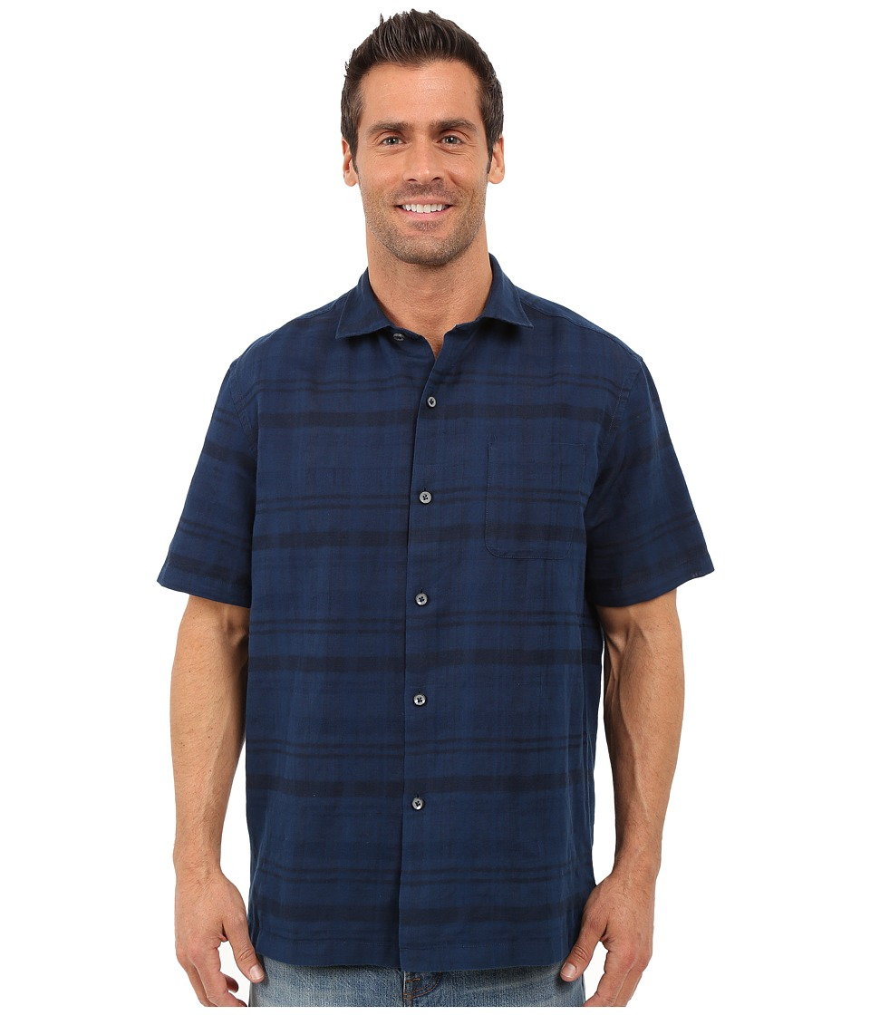 Tommy Bahama - Squarely There Camp Shirt (Navy) Men's Clothing