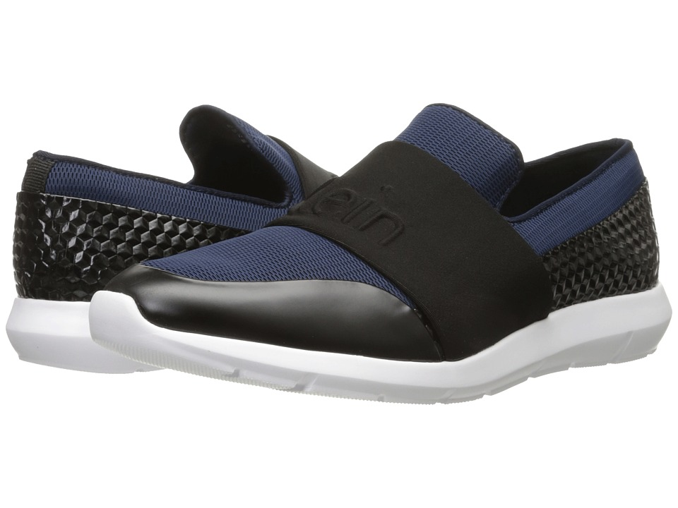 Calvin Klein - Redden (Dark Navy/Black Mesh/Hex Emboss) Men's Slip on Shoes