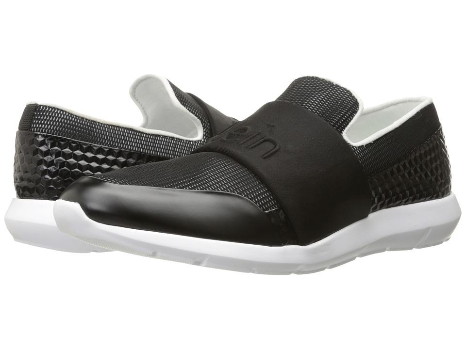Calvin Klein - Redden (Black/White Mesh/Hex Emboss) Men's Slip on Shoes