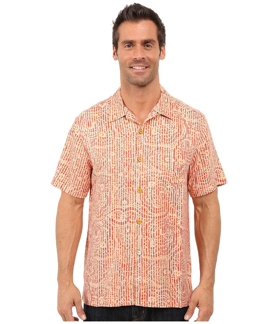 Tommy Bahama - Paloma Paisley Camp Shirt (Red Earth) Men's Clothing