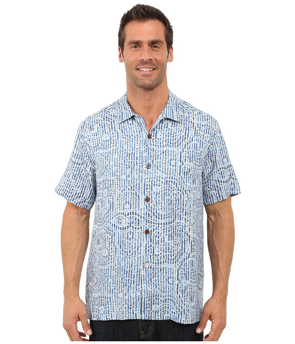 Tommy Bahama - Paloma Paisley Camp Shirt (Dress Blue) Men's Clothing