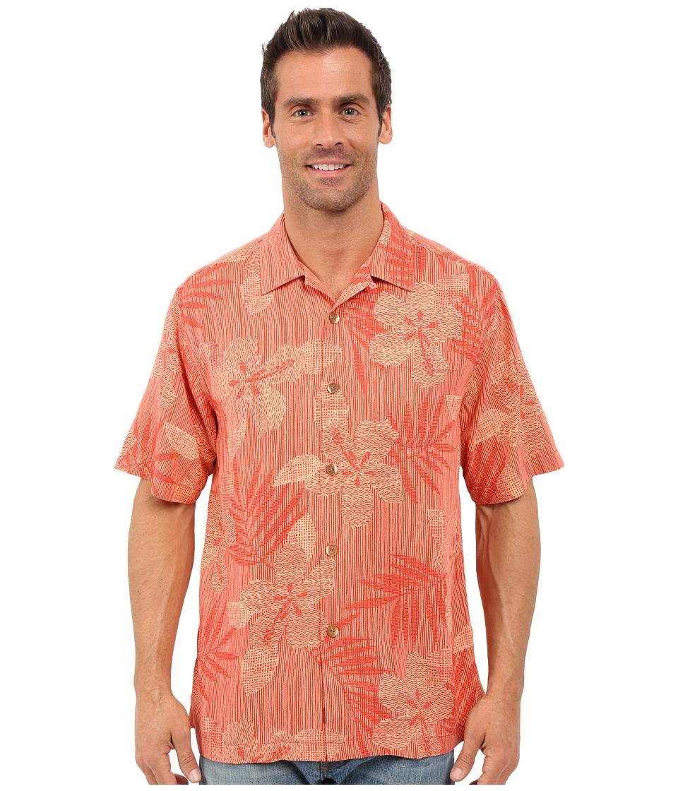 Tommy Bahama - Riviera Raffia Short Sleeve (Red Earth) Men's Clothing