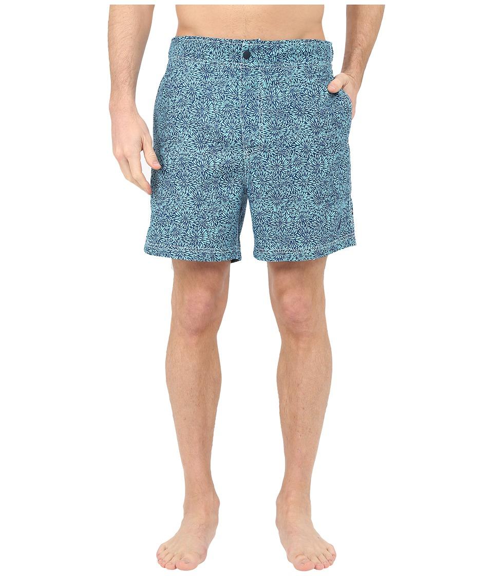 Nautica - Bleu Floral Half Back (Bali Bliss) Men's Swimwear